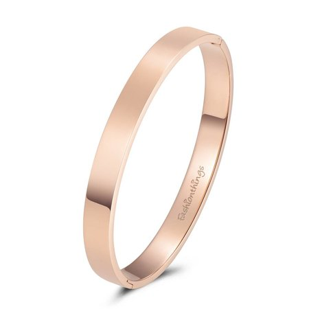 Fashionthings Bangle basic roségoud 8mm