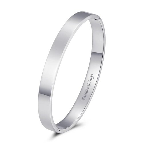 Fashionthings Bangle basic zilver 8mm