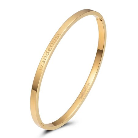 Fashionthings Bangle wanderlust goud 4mm