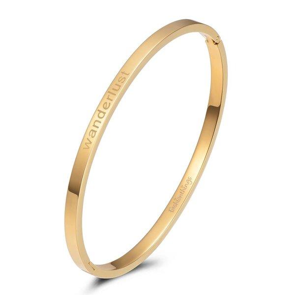 Bangle wanderlust goud 4mm