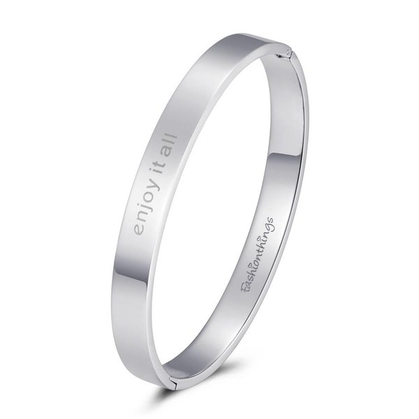 Bangle enjoy it all zilver 8mm