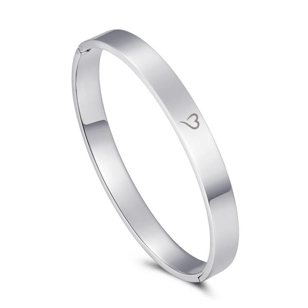 Bangle positive vibes zilver 8mm