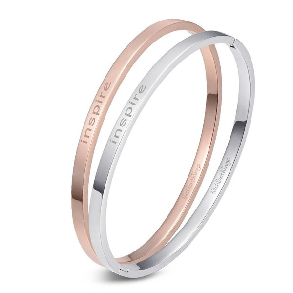Bangle inspire zilver 4mm