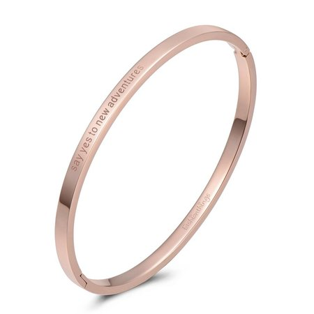 Fashionthings Bangle say yes to new adventures roségoud 4mm