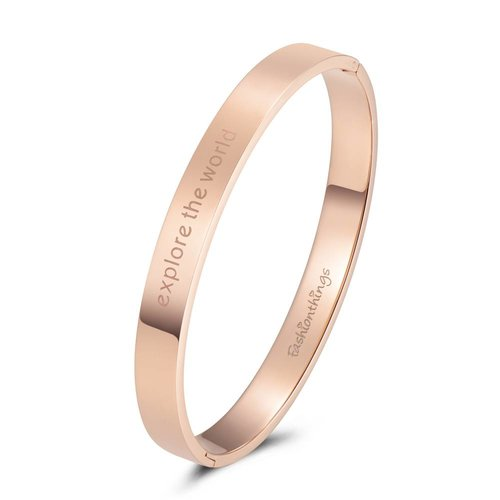 Fashionthings Bangle explore the world roségoud 8mm