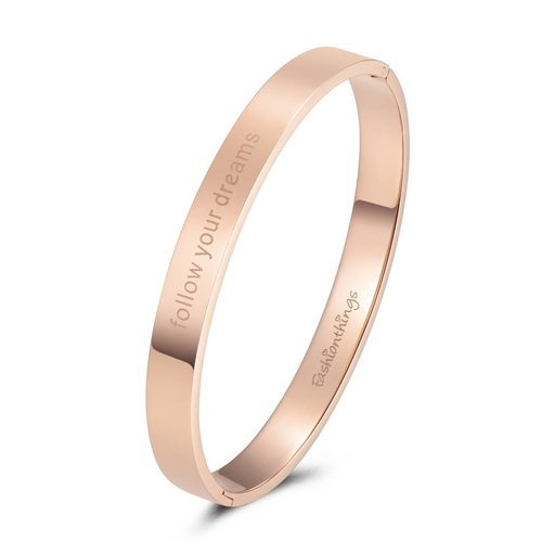 Fashionthings Bangle follow your dreams roségoud 8mm