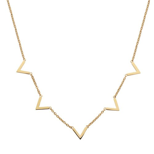 Fashionthings Queen V Ketting Goud