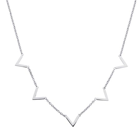 Fashionthings Queen V Ketting Zilver