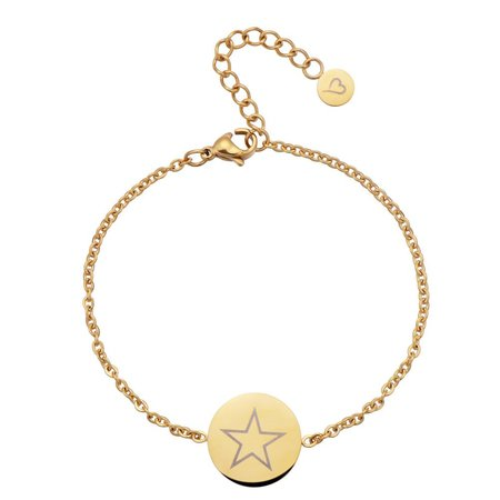 Fashionthings Shining Star Enkelbandje Goud
