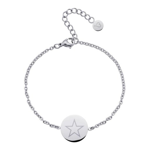 Fashionthings Shining Star Enkelbandje Zilver