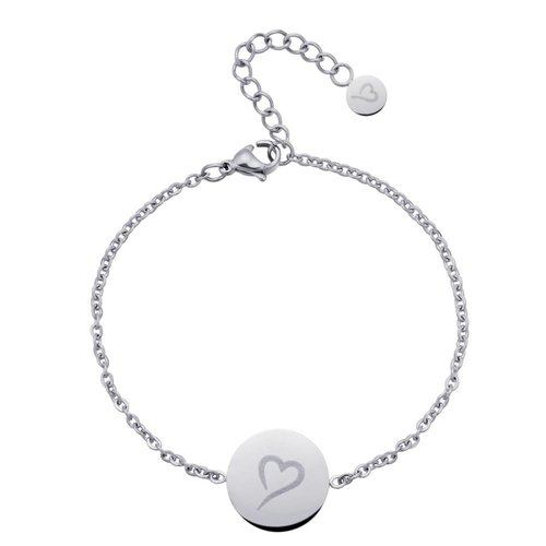 Fashionthings Follow Your Heart Enkelbandje Zilver