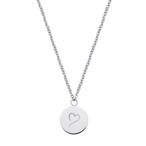Fashionthings Follow Your Heart Ketting Zilver