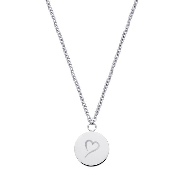 Follow Your Heart Ketting Zilver