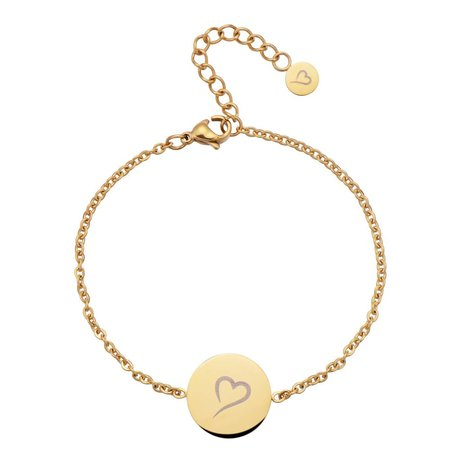 Fashionthings Follow Your Heart Enkelbandje Goud