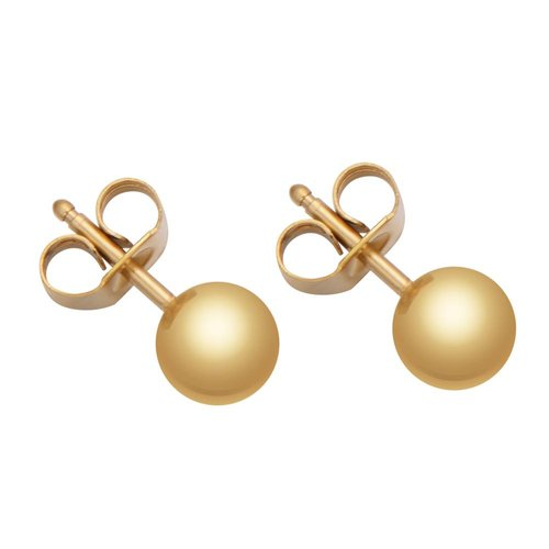 Fashionthings Less Is More Oorbellen Goud  4 mm