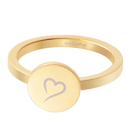 Fashionthings Follow Your Heart Ring Goud