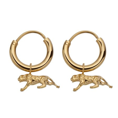 Fashionthings Leopard Love Oorbellen Goud