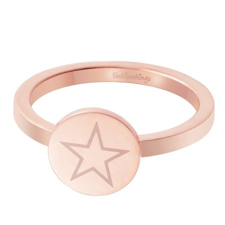 Fashionthings Shining Star Ring Roségoud