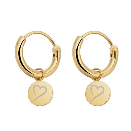 Fashionthings Follow Your Heart Oorbellen Goud