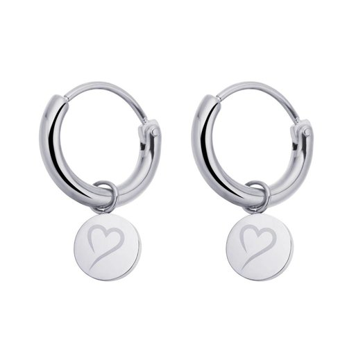 Fashionthings Follow Your Heart Oorbellen Zilver