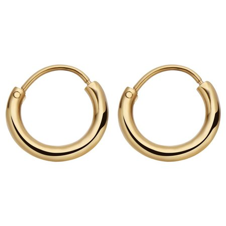 Fashionthings Round Hoops Oorbellen Goud
