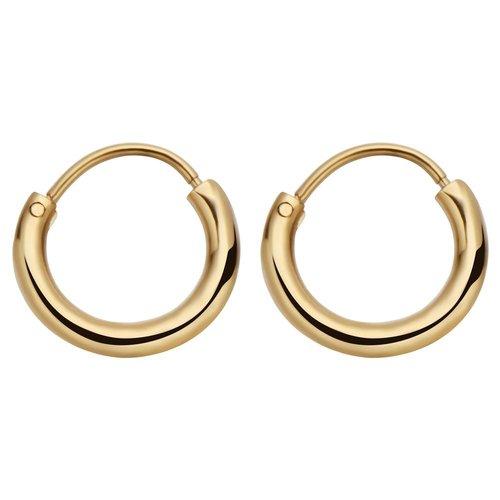 Fashionthings Round Hoops Oorbellen Goud