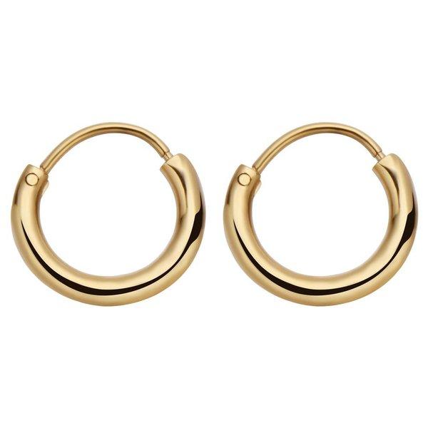 Round Hoops Oorbellen Goud