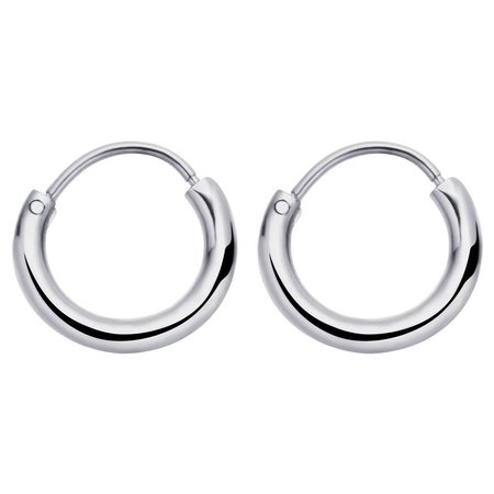Fashionthings Round Hoops Oorbellen Zilver