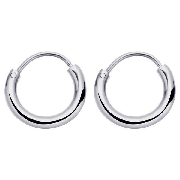 Round Hoops Oorbellen Zilver