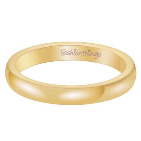 Fashionthings Keep It Simple Ring Goud