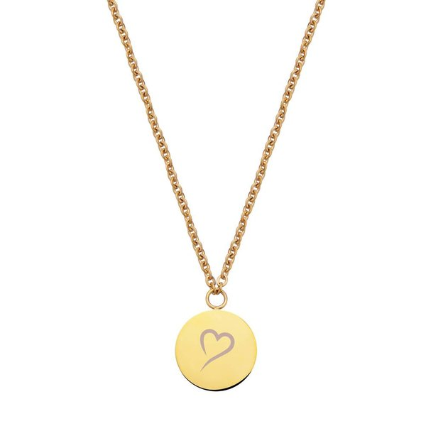 Follow Your Heart Ketting Goud