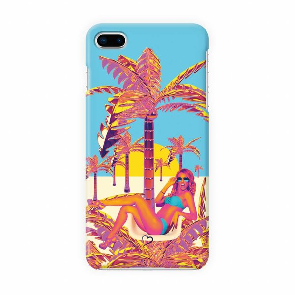 Golden palm tree Eco-friendly iPhone hoesje