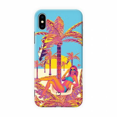 Fashionthings Golden palm tree Eco-friendly iPhone hoesje
