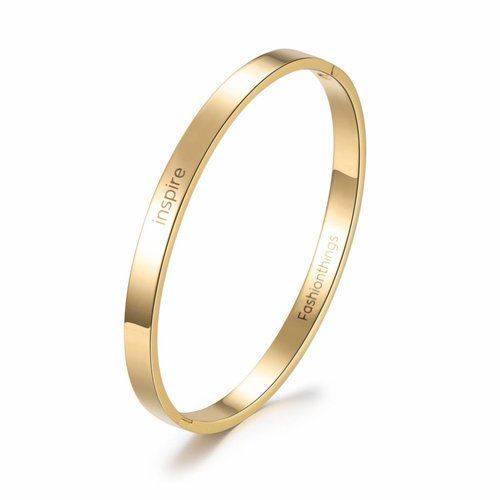 Fashionthings Bangle inspire goud 6 mm
