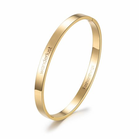 Fashionthings Bangle wanderlust goud 6 mm