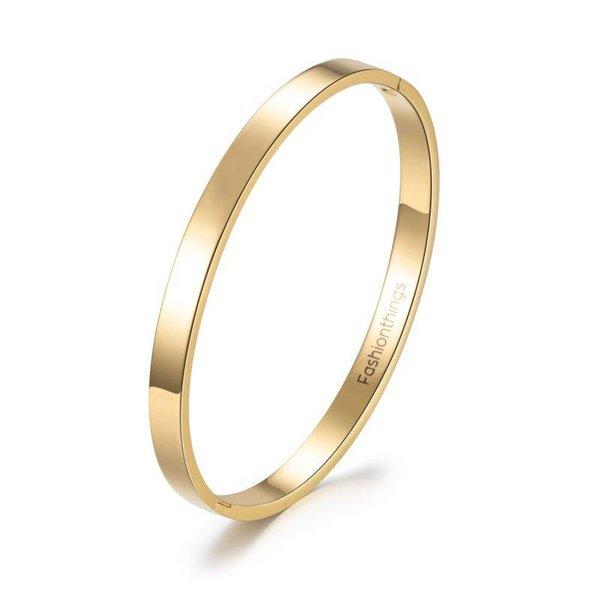 Basic bangle goud 6 mm