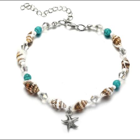 Starfish & Shells enkelbandje