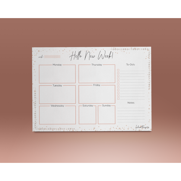 Deskplanner Hello new week A5