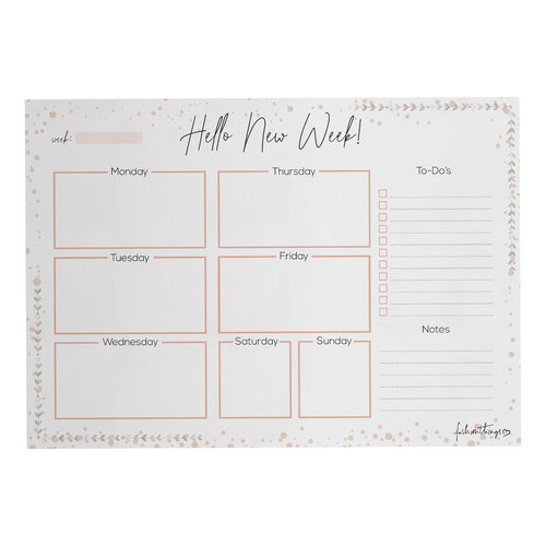 Fashionthings Deskplanner Hello new week A5