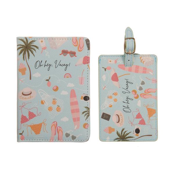 Oh hey, vacay! Paspoorthoesje + luggage label - giftbox