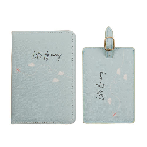 Fashionthings Let's fly away Paspoorthoesje & luggage label - Giftbox