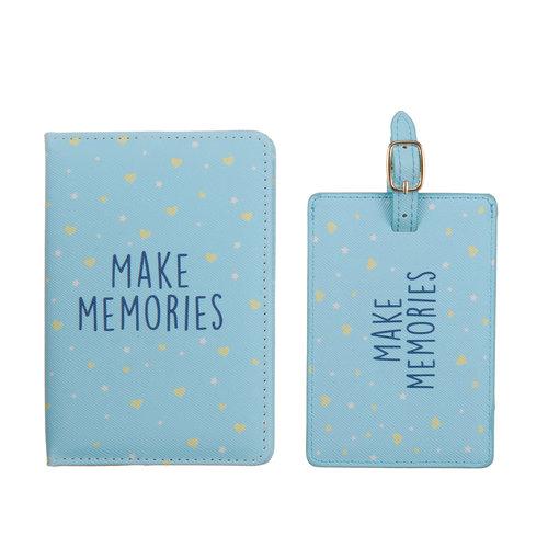 Fashionthings Make memories Paspoorthoesje & luggage label - Giftbox