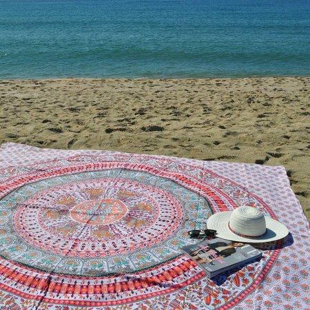 Lola Nomada Mandarina Summer Beach Throw