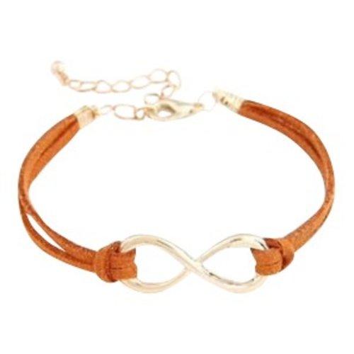 Infinity armband oranje