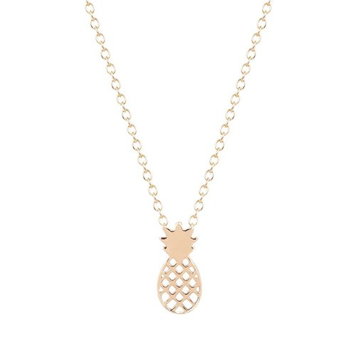 Pineapple ketting goud