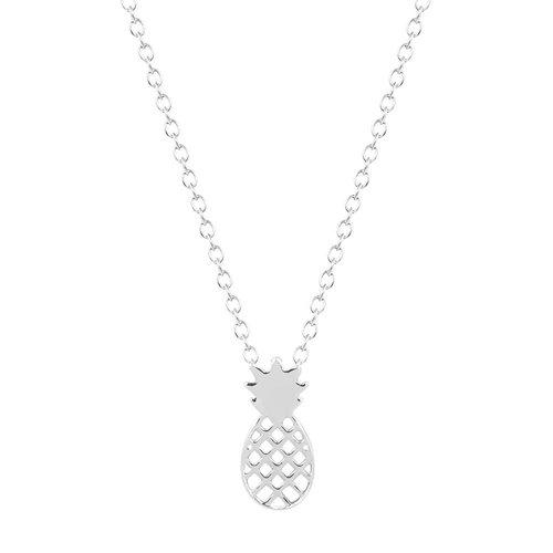 Pineapple ketting zilver