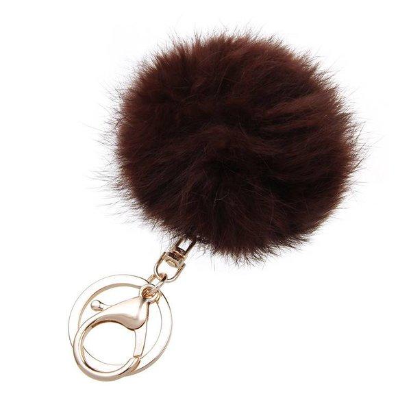 Fur keychain bruin