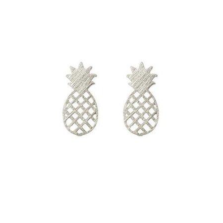 Pineapple oorbellen zilver
