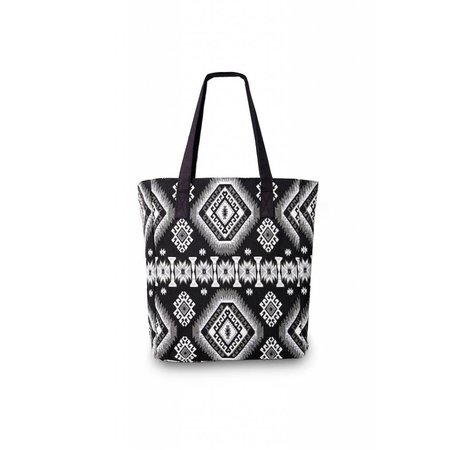 "Lola Nomada ""Shop till YOU drop"" shopper-black & white"