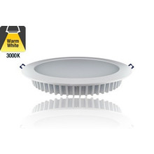 Led Downlighter 12w, 1040 Lumen, 3000K Warm Wit, Ø200 mm gatmaat, 5 Jaar Garantie